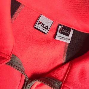 Fila Jackets & Coats - Bright Pink & Dark Gray Fila Sport Jacket
